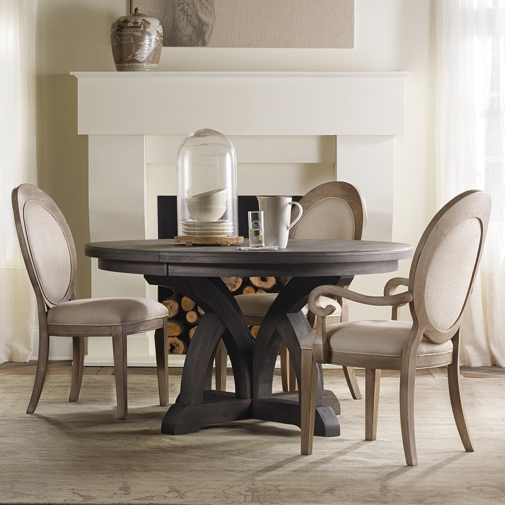 Preferred Dining Tables Dark Wood Regarding Corsica Dark Wood Round Dining Table (View 21 of 25)
