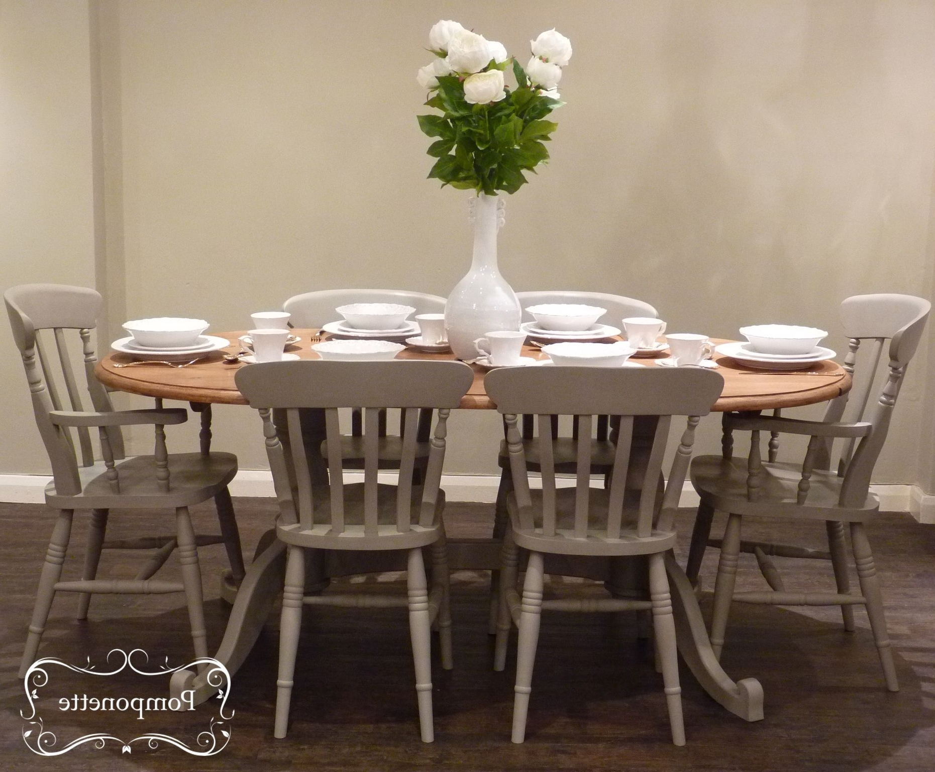 Preferred Dining Tables For Six Within Oval Dining Table & Six Chairs (View 20 of 25)
