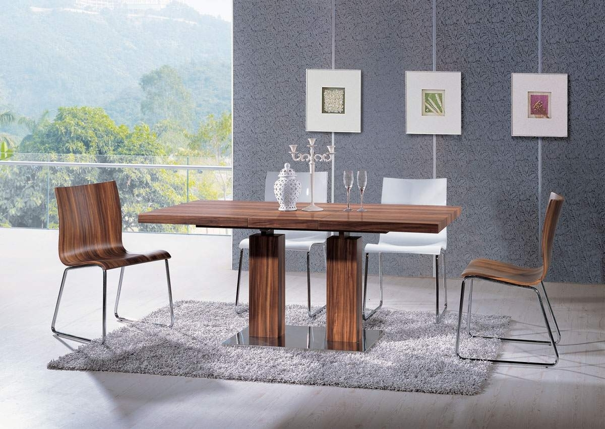 Preferred Extendable Rectangular Wooden Italian 5 Piece Kitchen Set With With Chandler Extension Dining Tables (View 21 of 25)