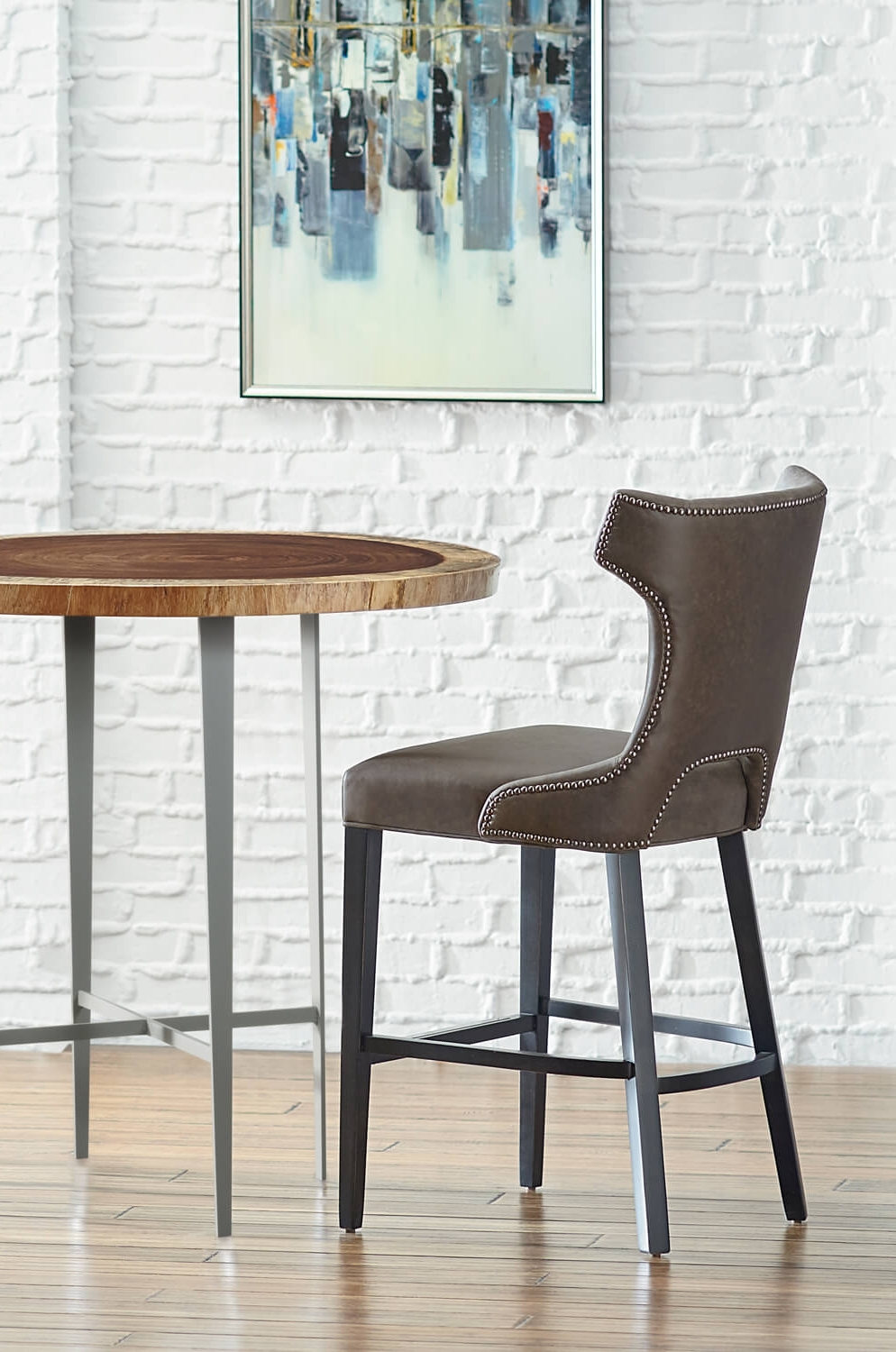 Preferred Gavin Transitional Wood Bar Or Counter Stool W/ High Back – Free For Gavin Dining Tables (View 17 of 25)