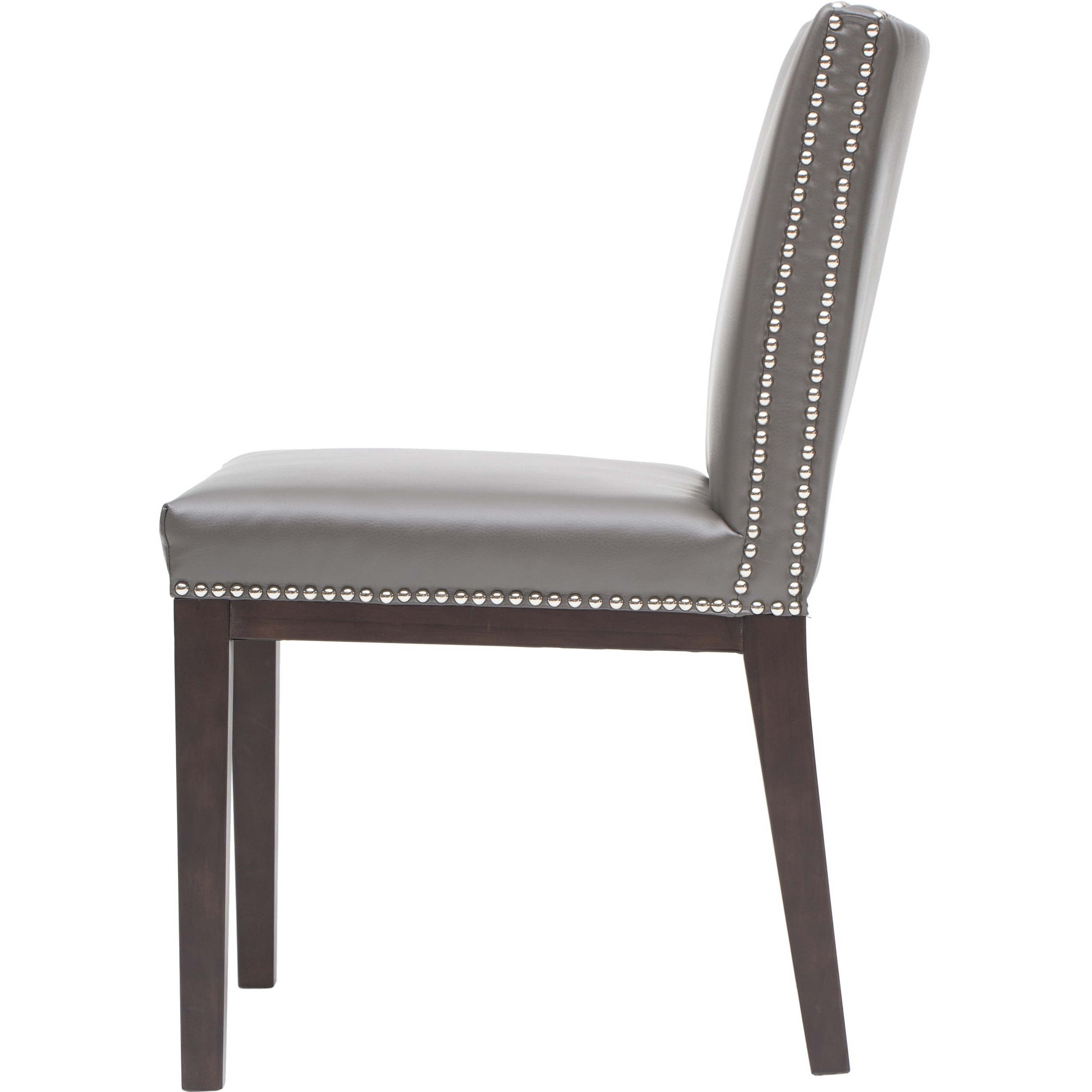 Preferred High Back Leather Dining Chairs Inside Modest Elegancy Of A Gray Leather Dining Chair (View 20 of 25)