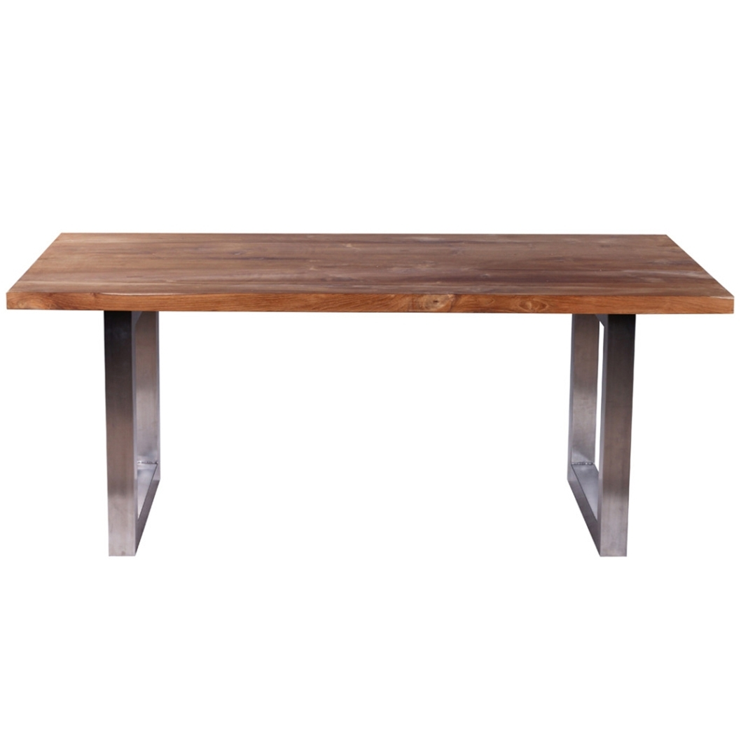Preferred Industrial Style Dining Tables Regarding Industrial Style Dining Table Dining Table. Reclaimed Teak And (Gallery 18 of 25)