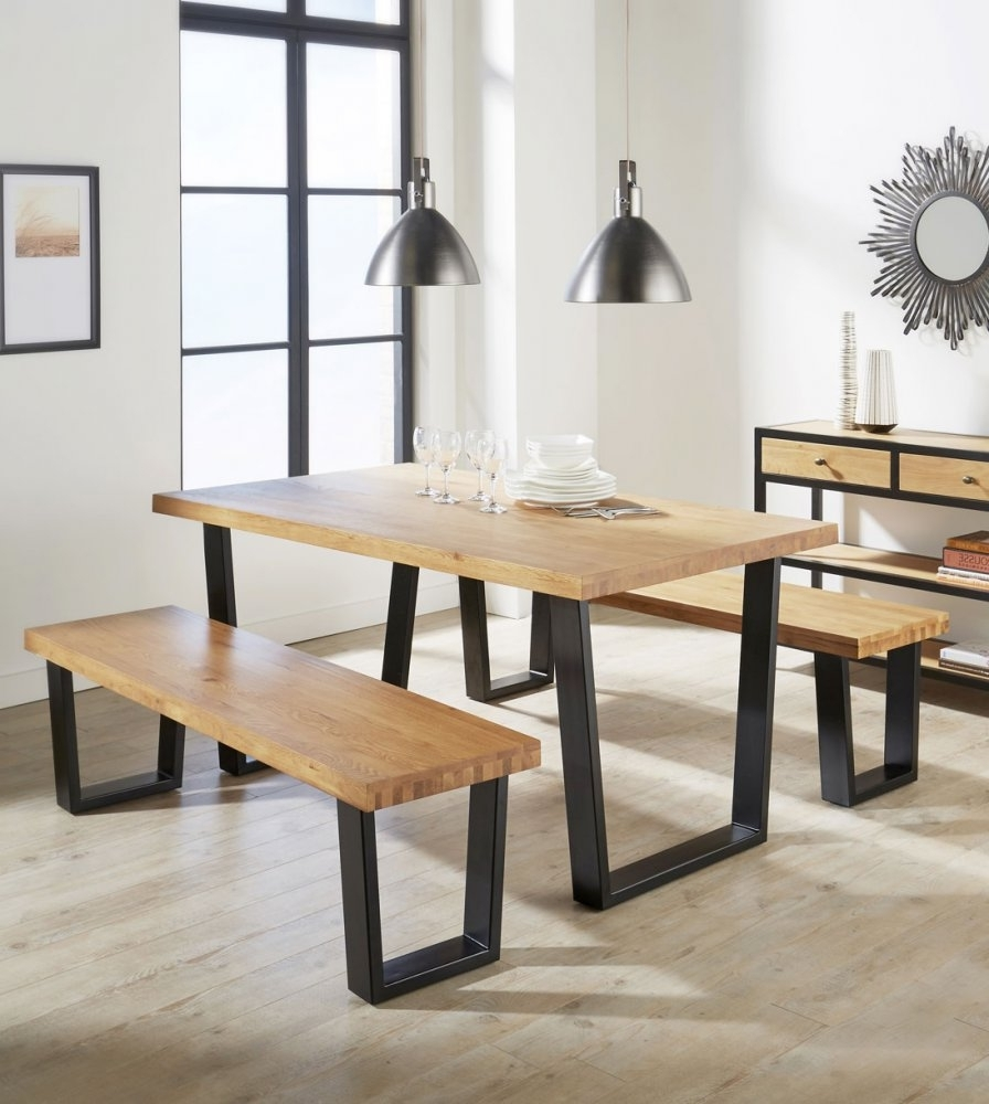 Preferred Industrial Style Dining Tables With Aloha Dining Table Made Of Solid Oak Industrial Design (View 3 of 25)