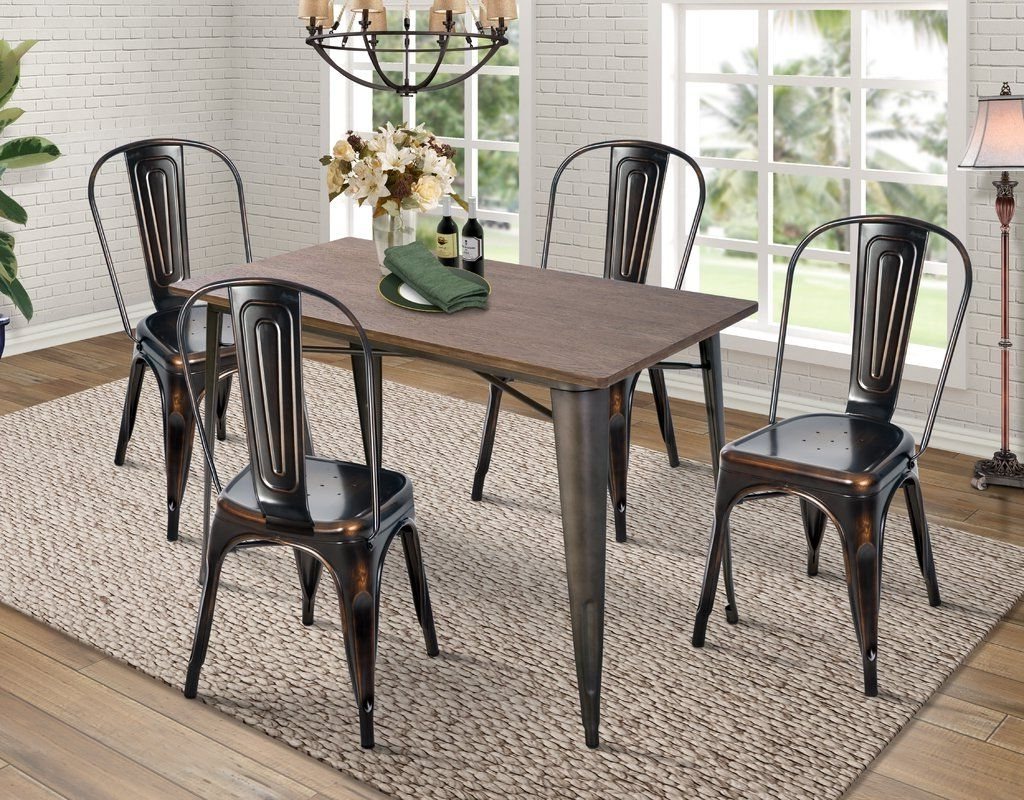 Preferred Jameson Grey 5 Piece Counter Sets With Croley 5 Piece Dining Set (View 11 of 25)
