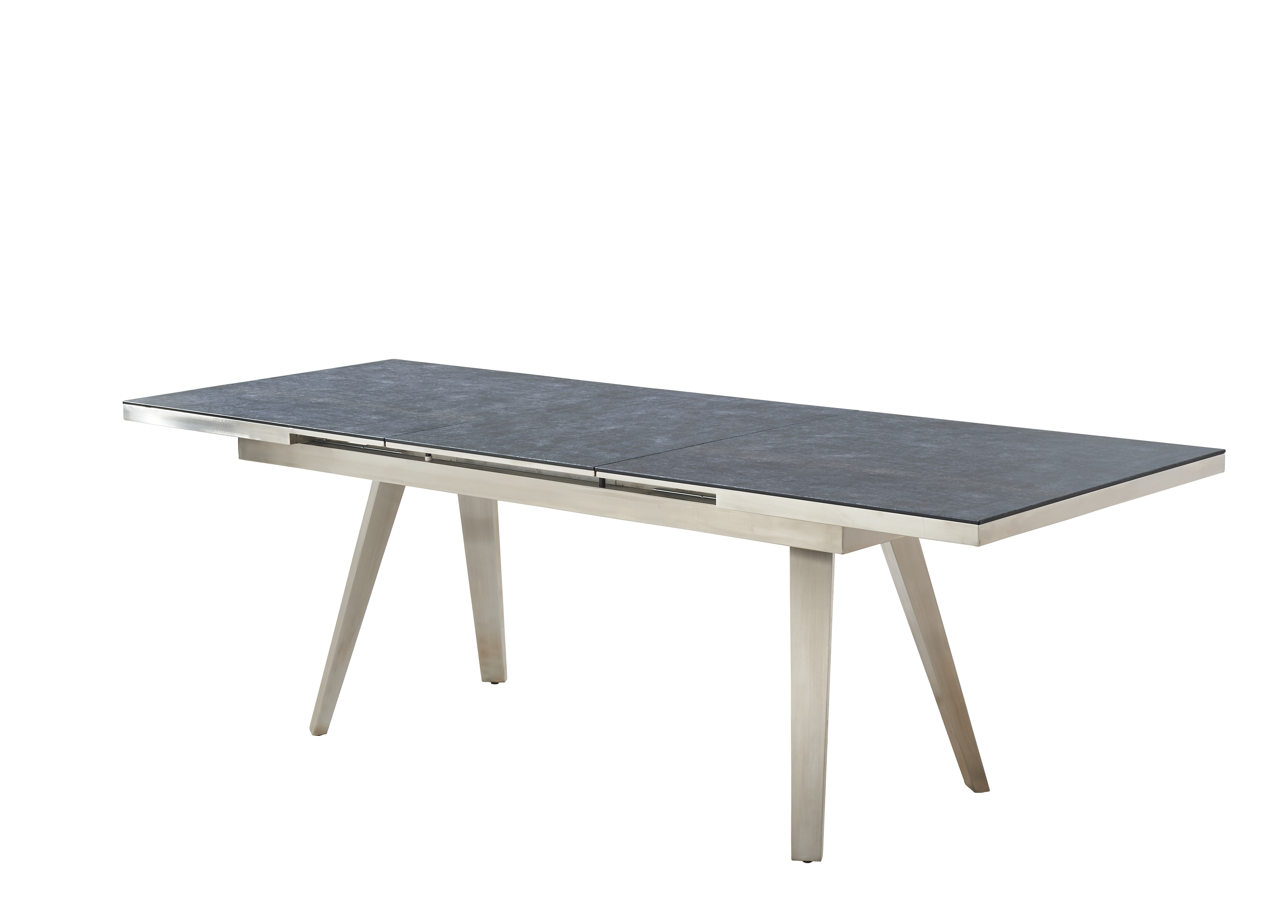 Preferred Lunar Light Grey Granite Extending Dining Table (View 17 of 25)