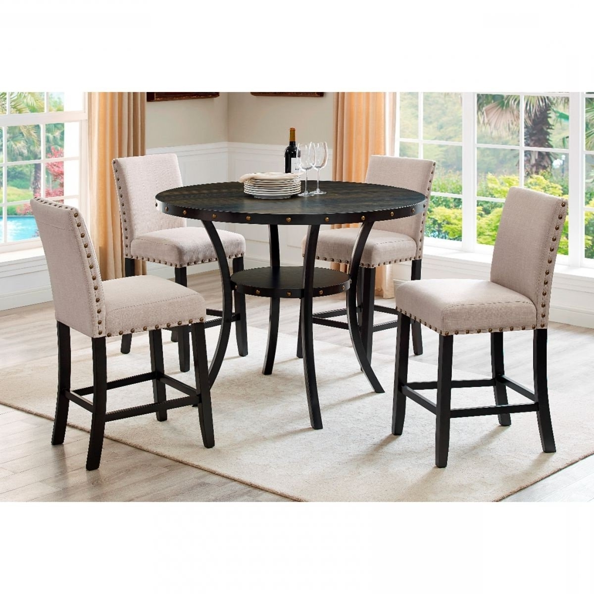Preferred Madison 5 Pc Counter Height Dining Room (View 13 of 25)
