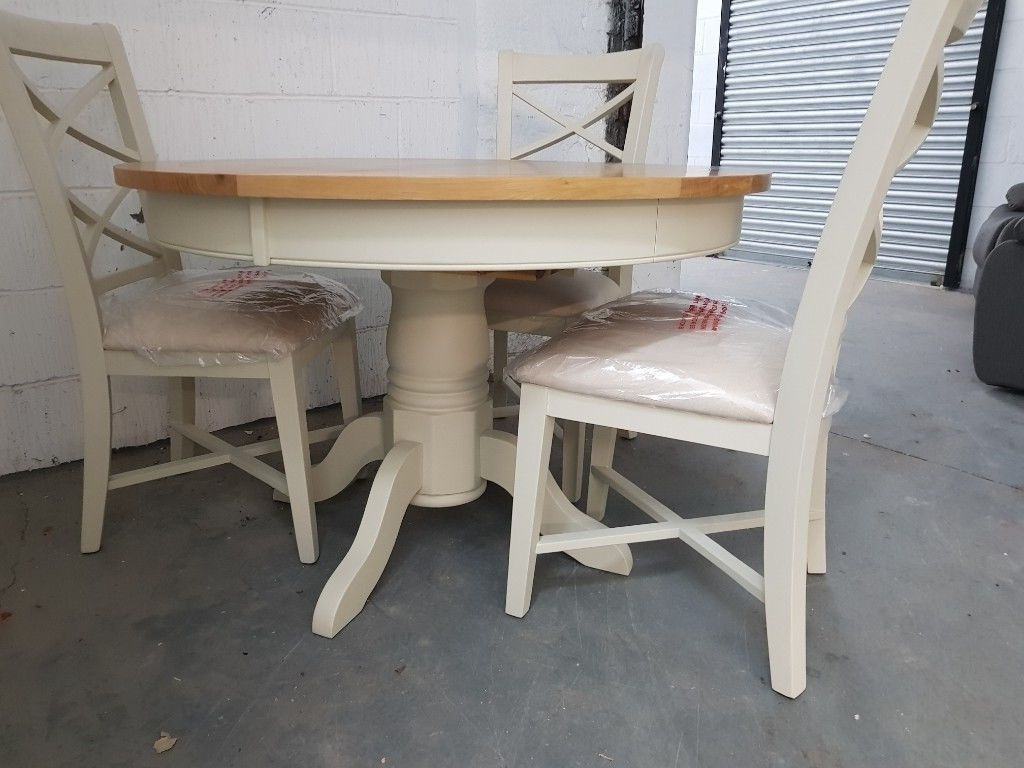 Preferred Mark Webster Designs Bordeaux Dining Table + 4 Chairs (Damaged) Rrp Pertaining To Bordeaux Dining Tables (Gallery 14 of 25)