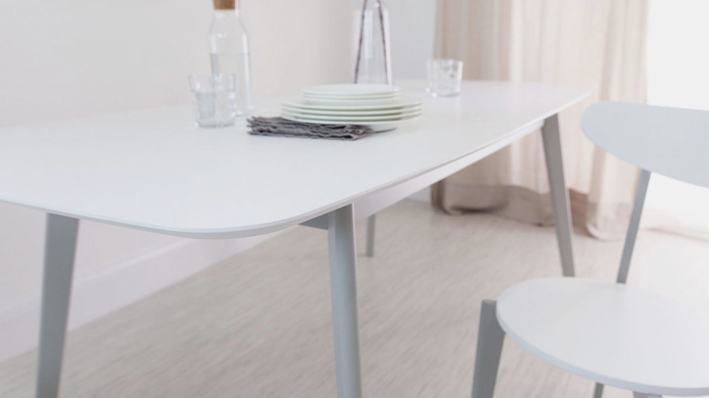Preferred Modern Rectangular White Gloss Extending Dining Table, Big Lots Inside White Extending Dining Tables (View 23 of 25)