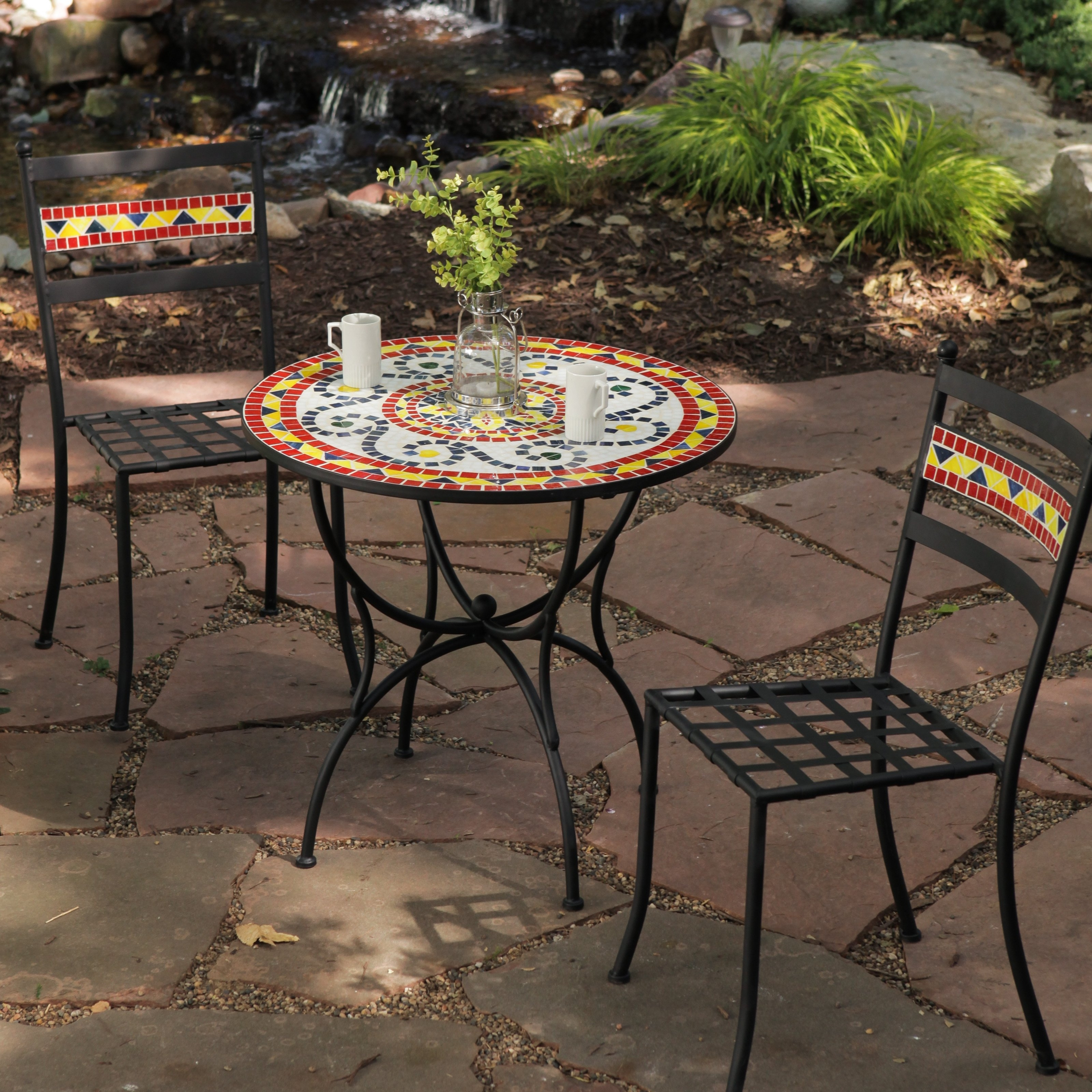 Preferred Mosaic Dining Tables For Sale Intended For Mosaic Table And Chairs Set Mosaic Outdoor Table And Diy Patio Furniture (View 20 of 25)