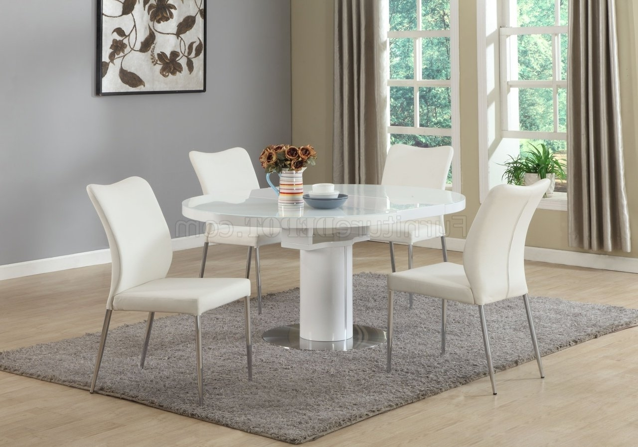 Preferred Nora Dining Table 5Pc Set In Whitechintaly Intended For Nora Dining Tables (View 20 of 25)