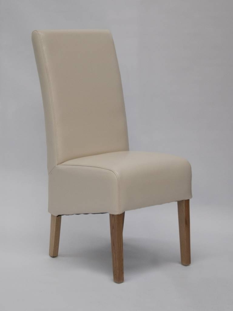 Preferred Oslo Ivory Leather Dining Chair – Freitaslaf Net Ltd – Freitaslaf For Ivory Leather Dining Chairs (View 12 of 25)