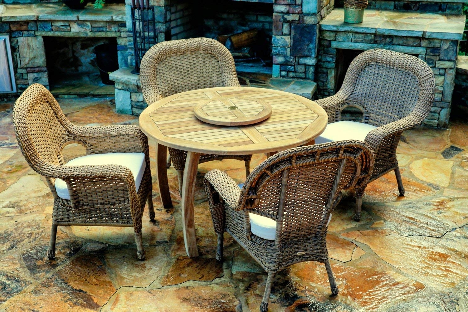 Preferred Outdoor Tortuga Dining Tables For Amazon: Tortuga Outdoor The Sea Pines 5 Piece Dining Set (View 16 of 25)