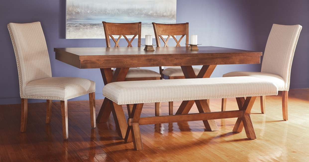 Preferred Pedestal Dining Tables And Chairs Regarding Quality Canadian Wood Furniture: Dining Room (View 22 of 25)