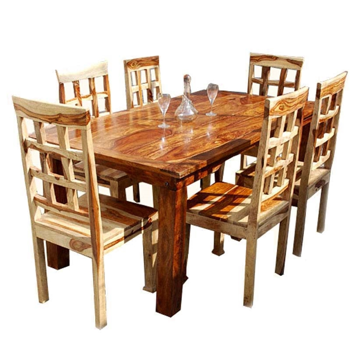 Preferred Portland Dining Tables With Portland Contemporary 7Pc Waffle Back Dining Room Table Set (View 18 of 25)