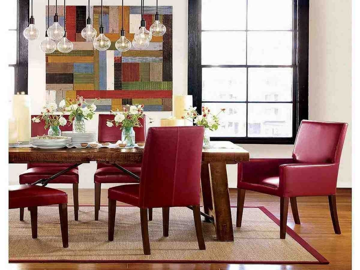 Preferred Red Leather Dining Room Chairs (View 11 of 25)