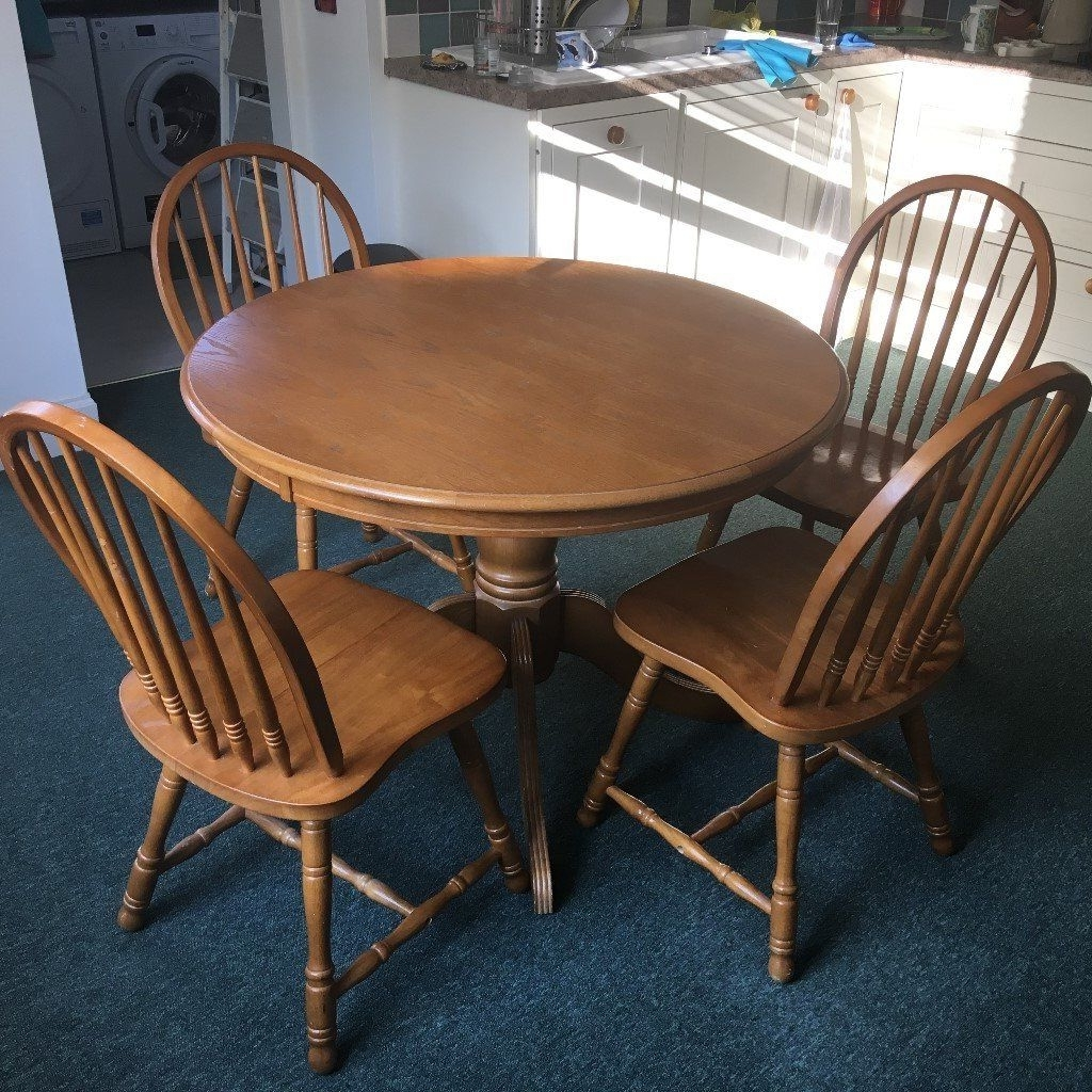 Preferred Round Oak Dining Tables And 4 Chairs Pertaining To Round Oak Dining Table And 4 Chairs (Gallery 9 of 25)