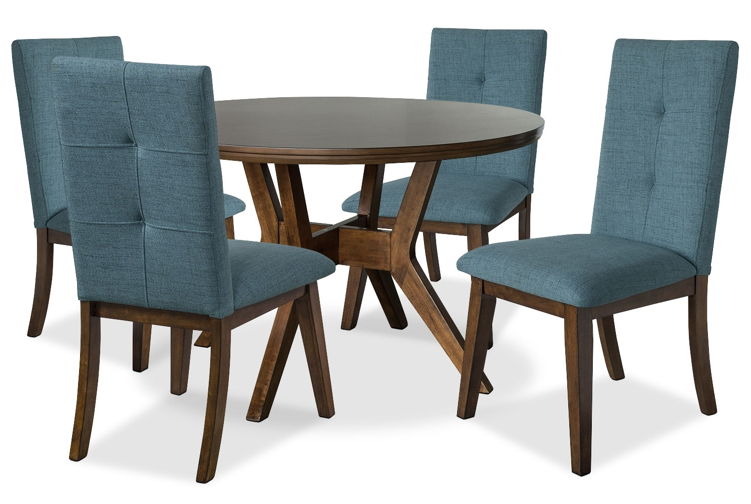 Preferred Round Wood Dining Table 5 Chairs 2 Leaves Regarding Jaxon 6 Piece Rectangle Dining Sets With Bench & Wood Chairs (View 19 of 25)