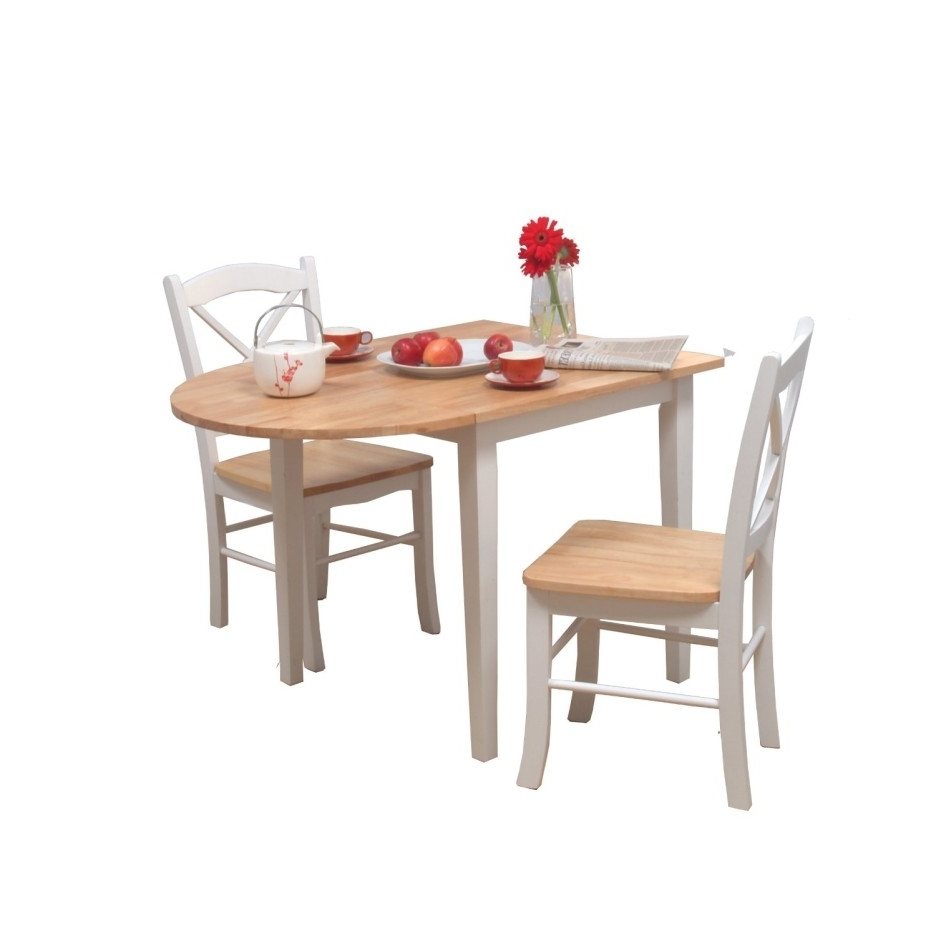 Preferred Rustic French Country Extendable Teak Wood Dining Table In White Inside Cream Lacquer Dining Tables (Gallery 18 of 25)