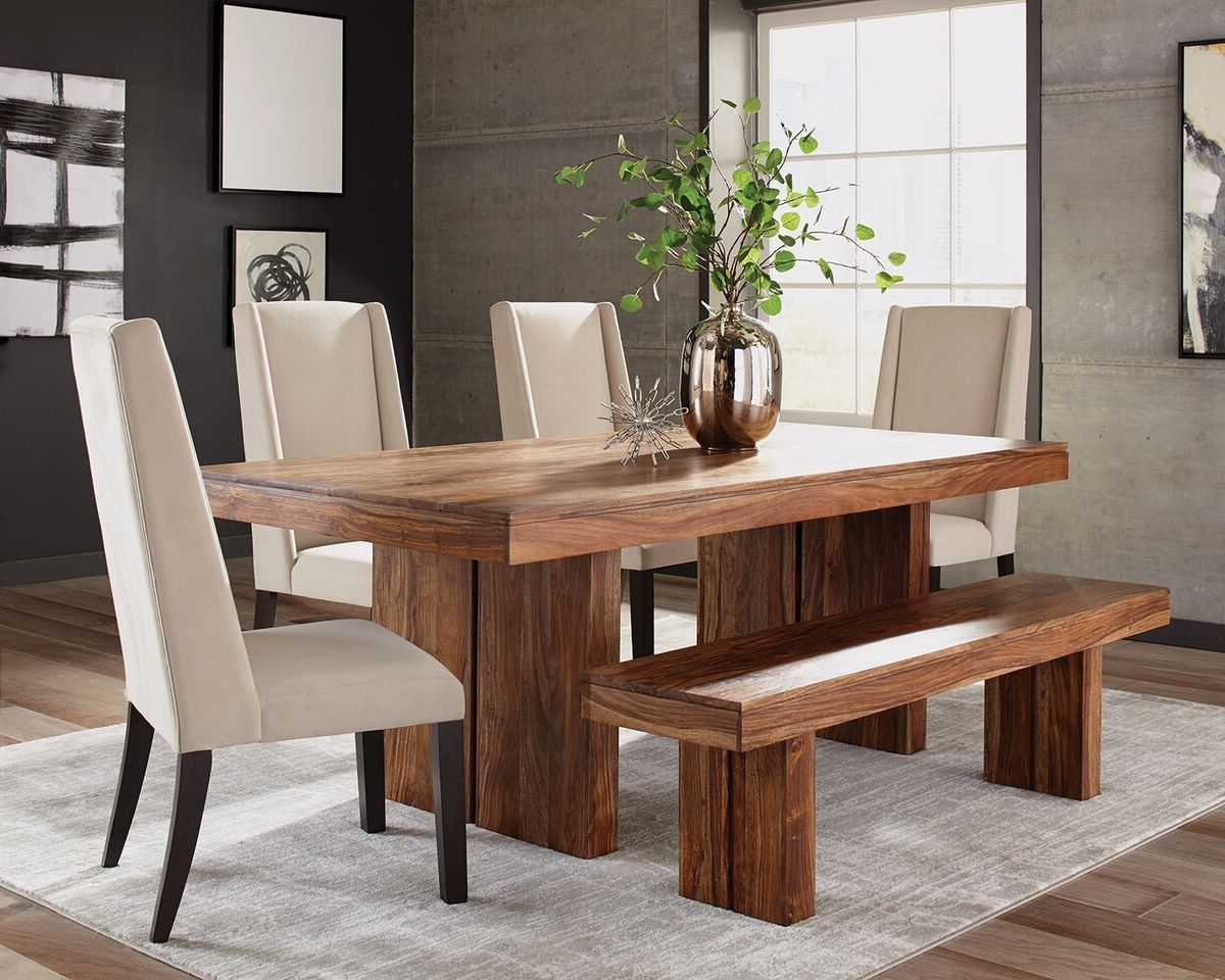 Preferred Scott Living Hillsborough 107501 Solid Sheesham Dining Set (View 20 of 25)