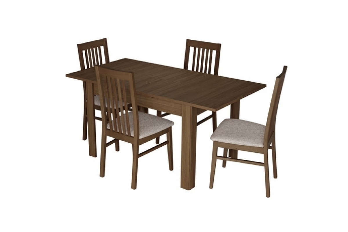 Preferred Small Extending Dining Tables With Kingstown Dalby Walnut Dining Set – Small Extending – Dining Table (Gallery 12 of 25)