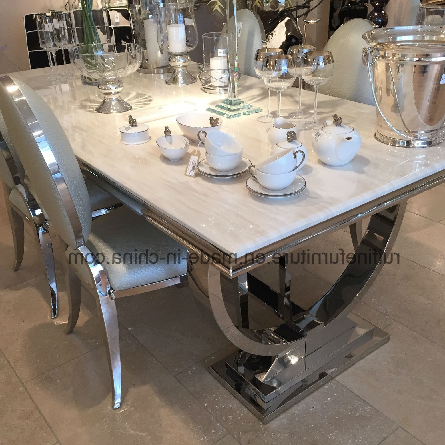Preferred Solid Marble Dining Tables In China Modern Creative Solid Marble Dining Table Console Table (View 5 of 25)