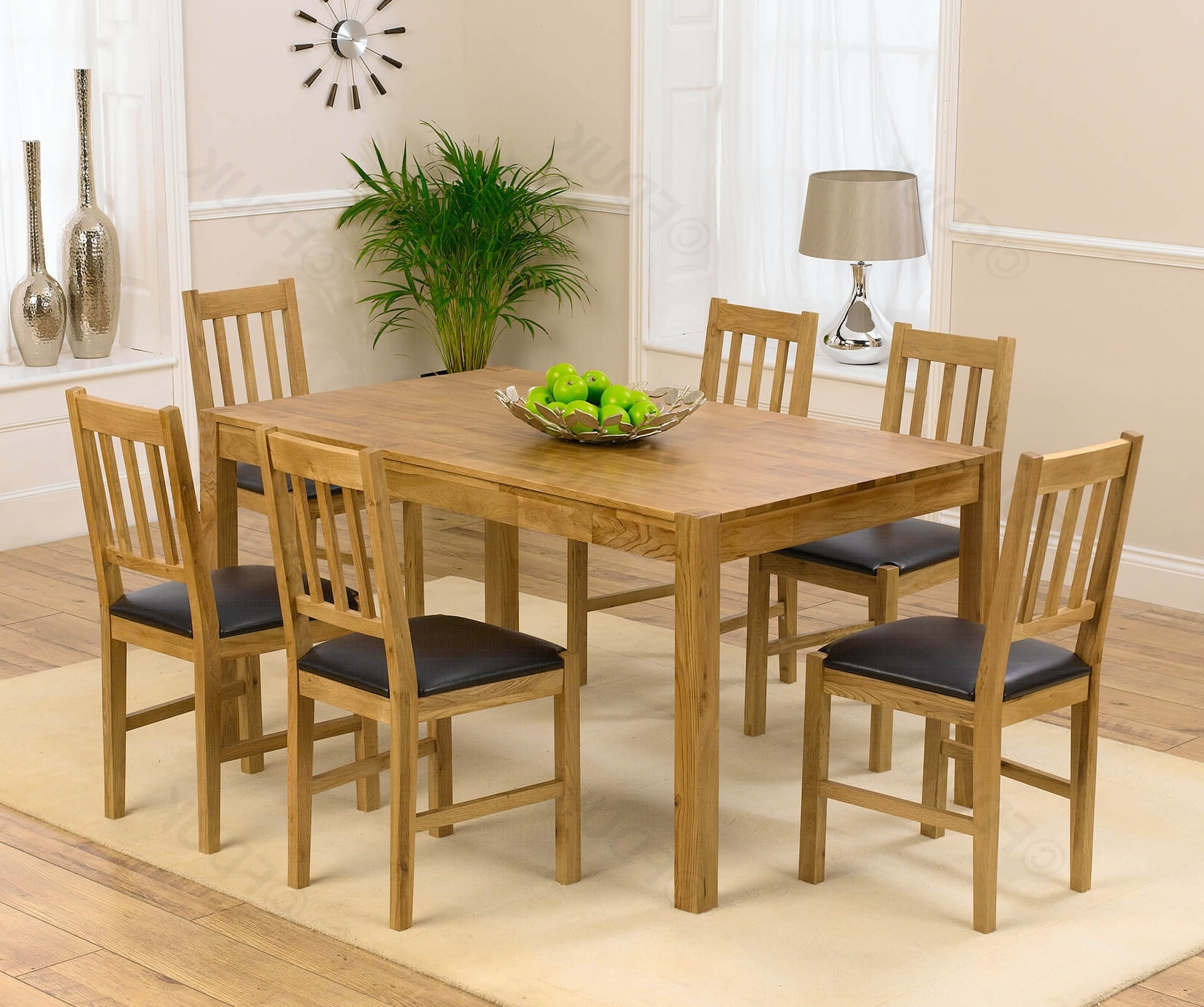 Preferred Solid Oak Dining Tables And 6 Chairs Regarding Mark Harris Promo (Gallery 22 of 25)