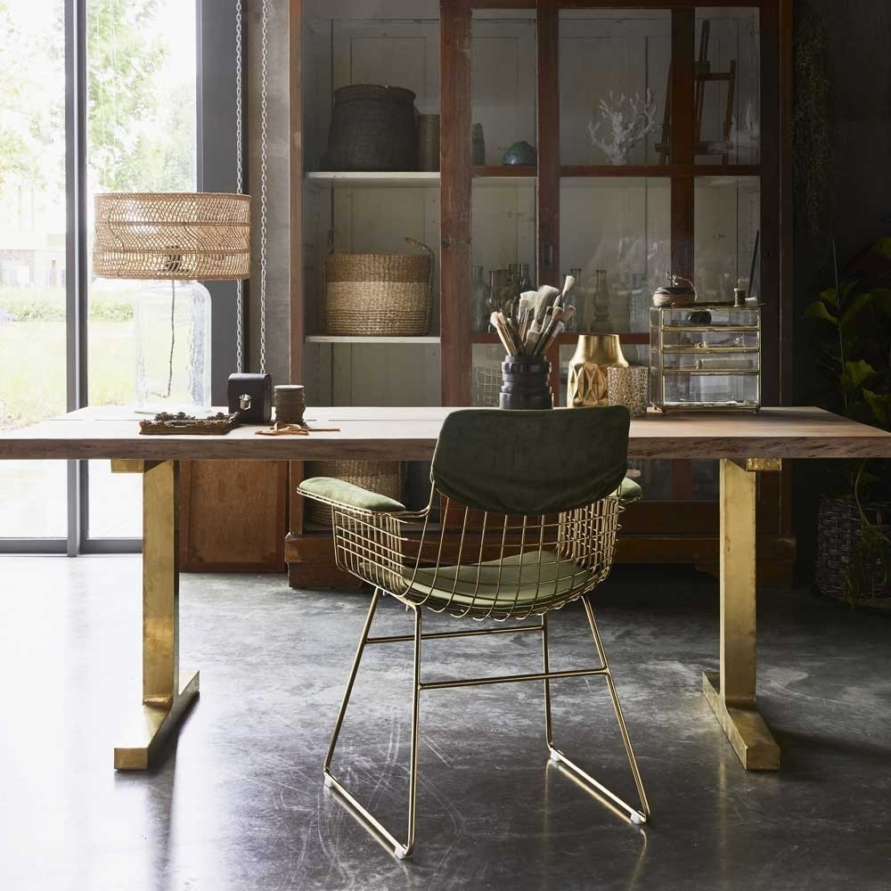 Preferred Tree Dining Table With Brass Legs – Hk Living With Regard To Tree Dining Tables (View 13 of 25)