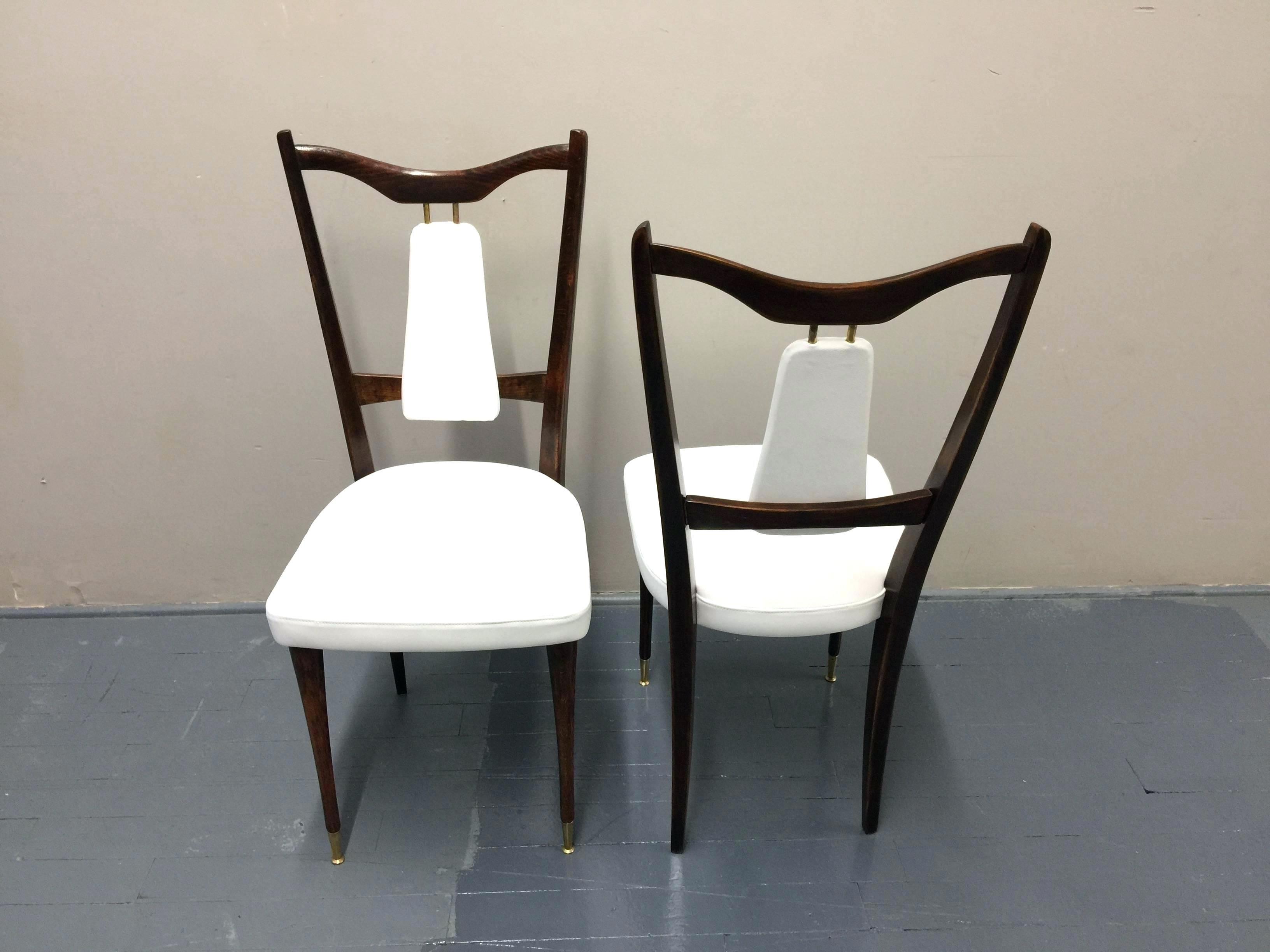 Preferred White Leather Dining Room Chairs Regarding White Leather Dining Chairs Modern Dinner Chair Beautiful Faux Room (Gallery 20 of 25)