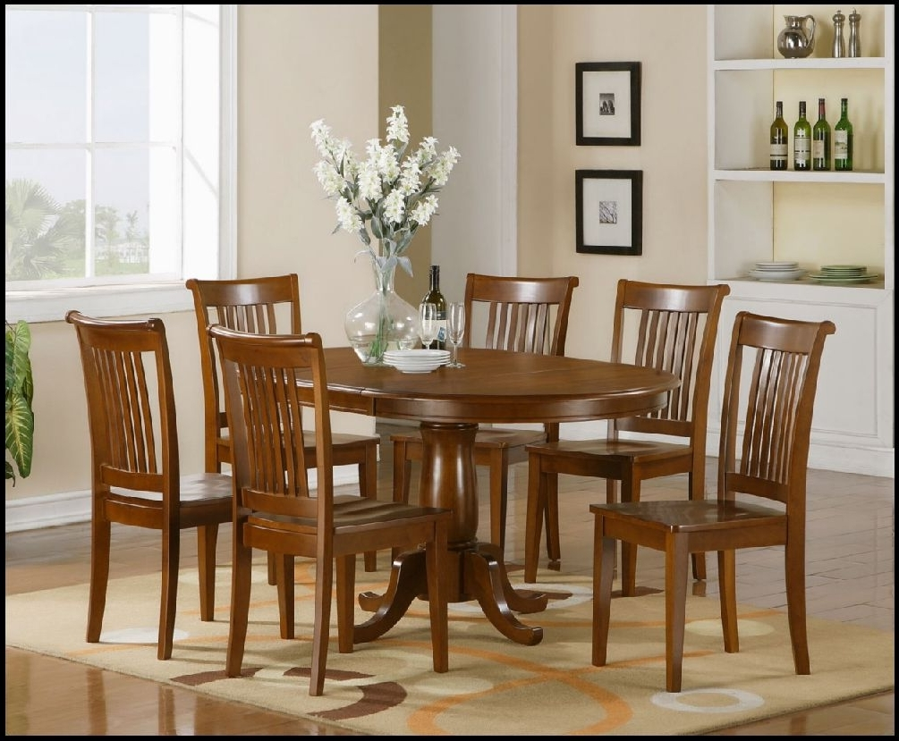 Preferred Wood Dining Tables And 6 Chairs With Dining Table Set 6 Seater Round And Chairs Six Kitchen 4 Stunning (View 12 of 25)