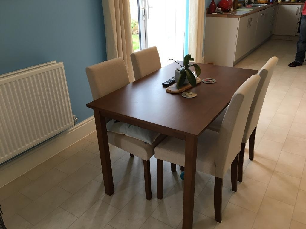 Primo 120 Cm Dining Table + 4 Fabric Chairs (View 20 of 25)