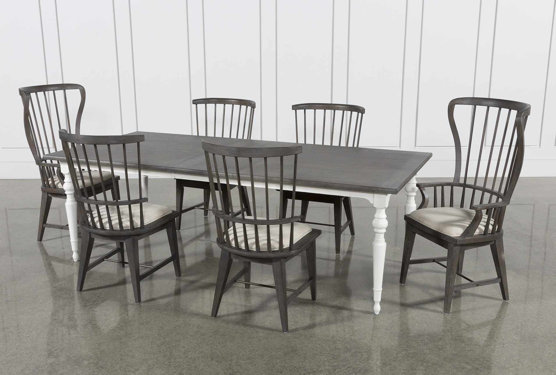 Products Intended For Well Liked Candice Ii 7 Piece Extension Rectangular Dining Sets With Slat Back Side Chairs (View 2 of 25)