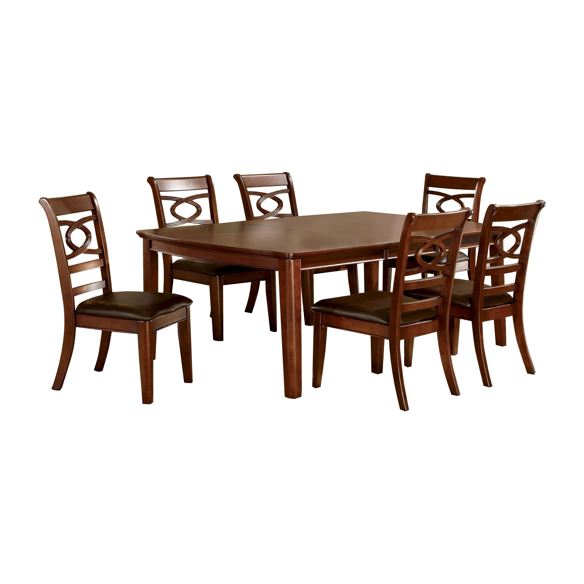 Products Throughout Norwood 7 Piece Rectangular Extension Dining Sets With Bench & Uph Side Chairs (View 20 of 25)