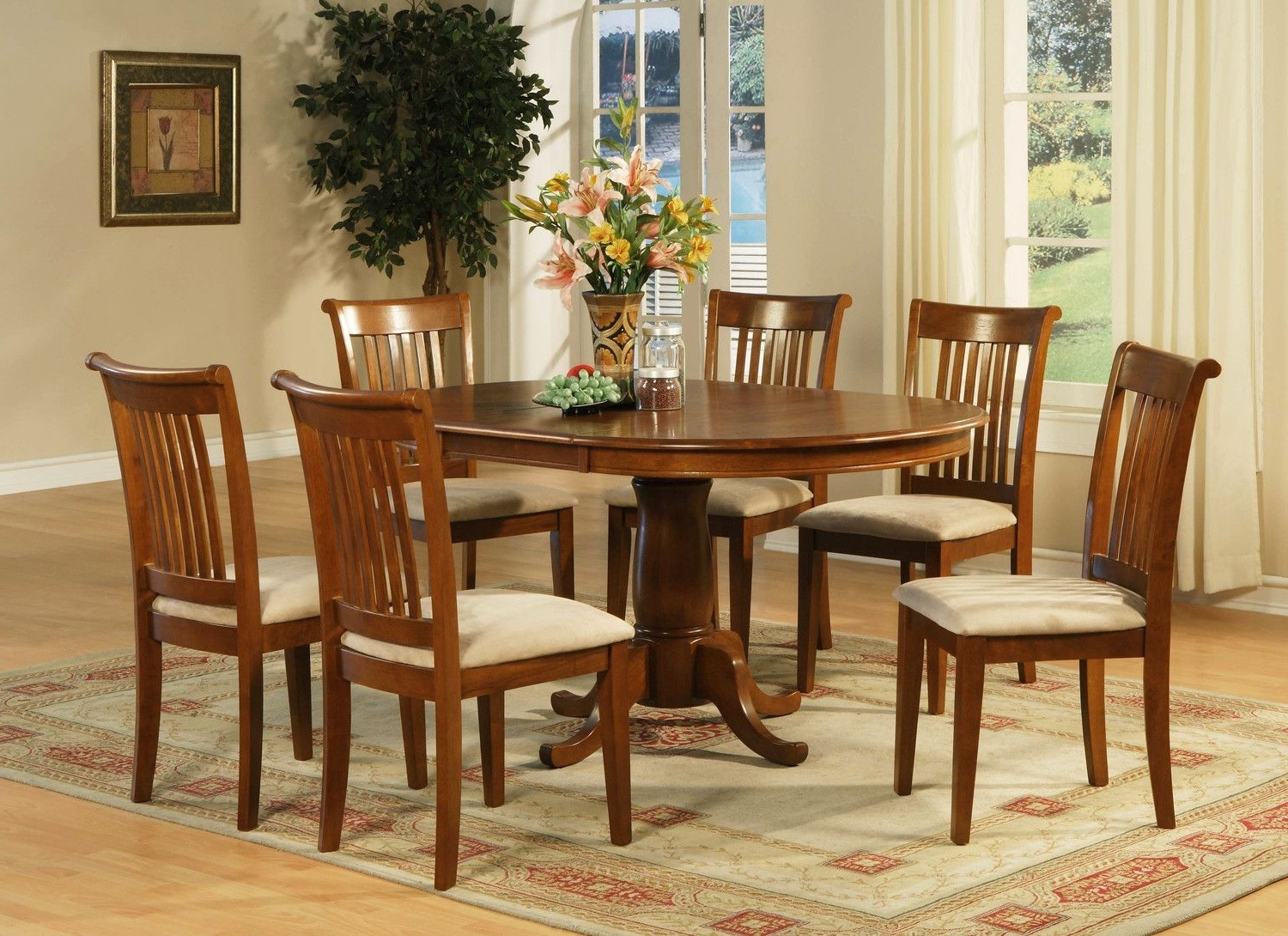 Products With Caden 7 Piece Dining Sets With Upholstered Side Chair (View 18 of 25)
