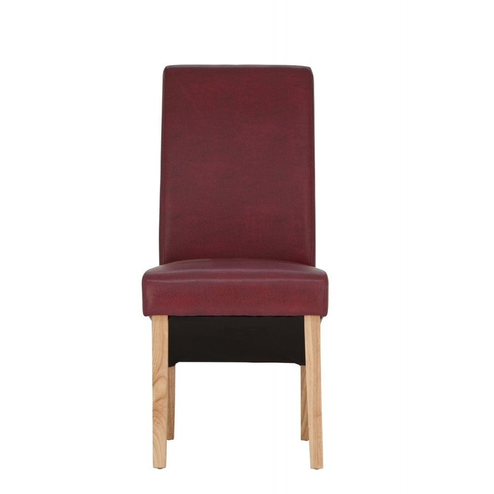 Purple Faux Leather Dining Chairs Inside Most Recent Henley Faux Leather Dining Chair – Red (View 23 of 25)