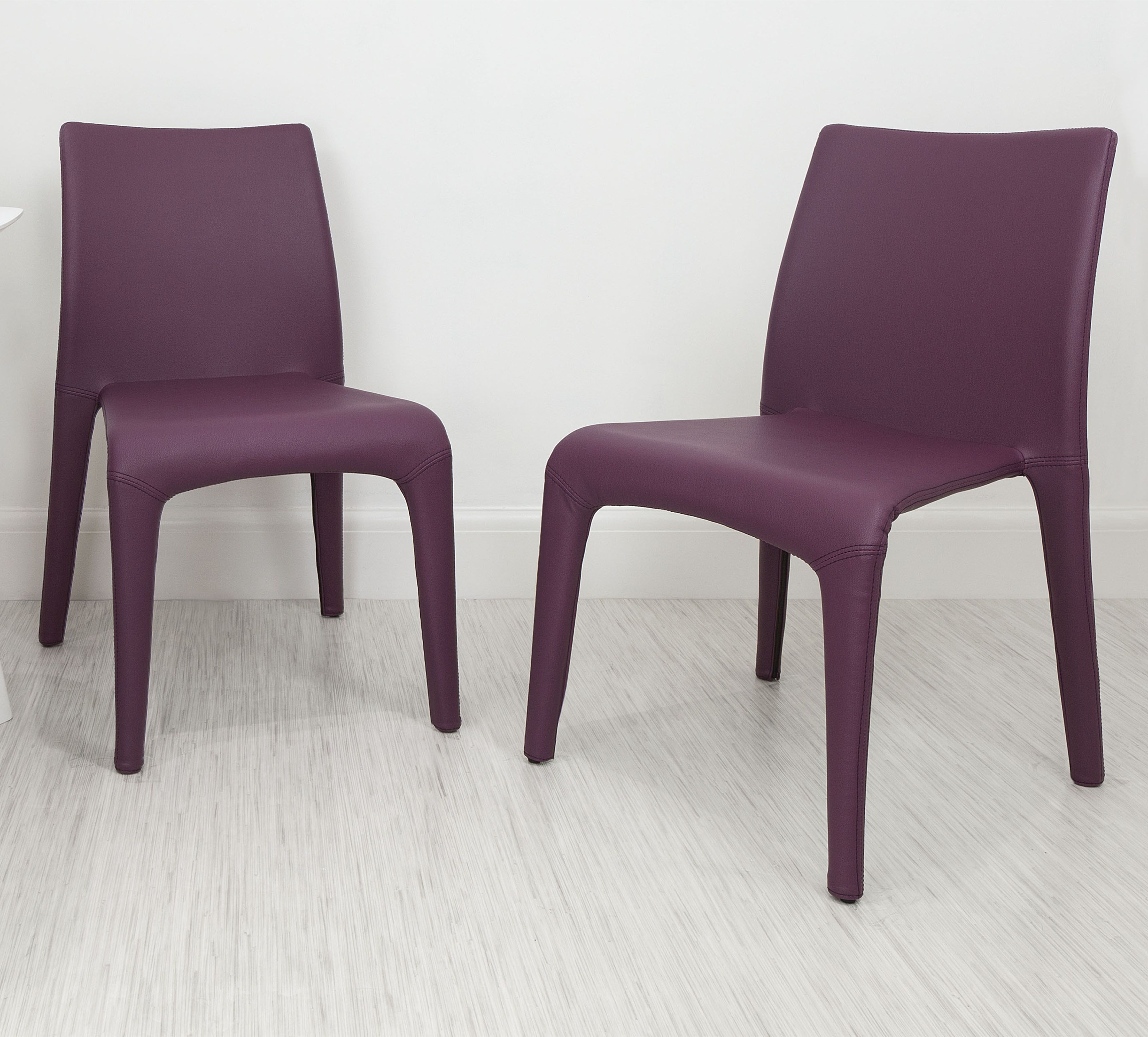 Purple Faux Leather Dining Chairs Within Famous With It's Chunky And Stylish Curves, The Argenta Coloured Faux (View 9 of 25)