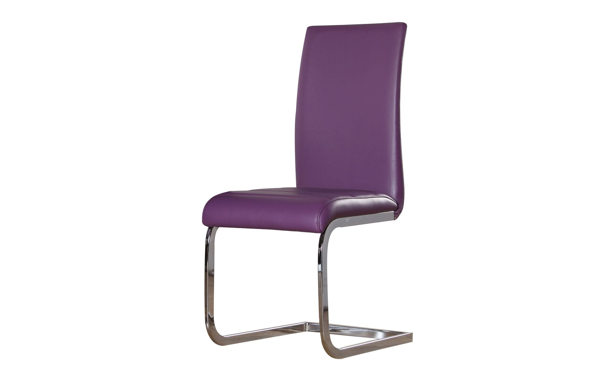 Purple Faux Leather Dining Chairs Within Favorite Modern Perth Purple Faux Leather And Chrome Dining Chair (View 14 of 25)