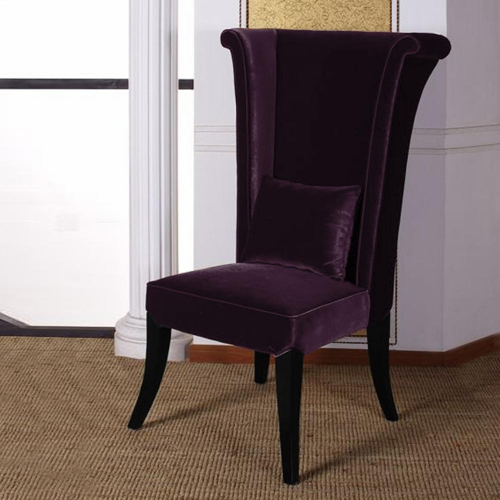 Purple Faux Leather Dining Chairs Within Most Current Armen Living Mad Hatter 52 In (View 21 of 25)