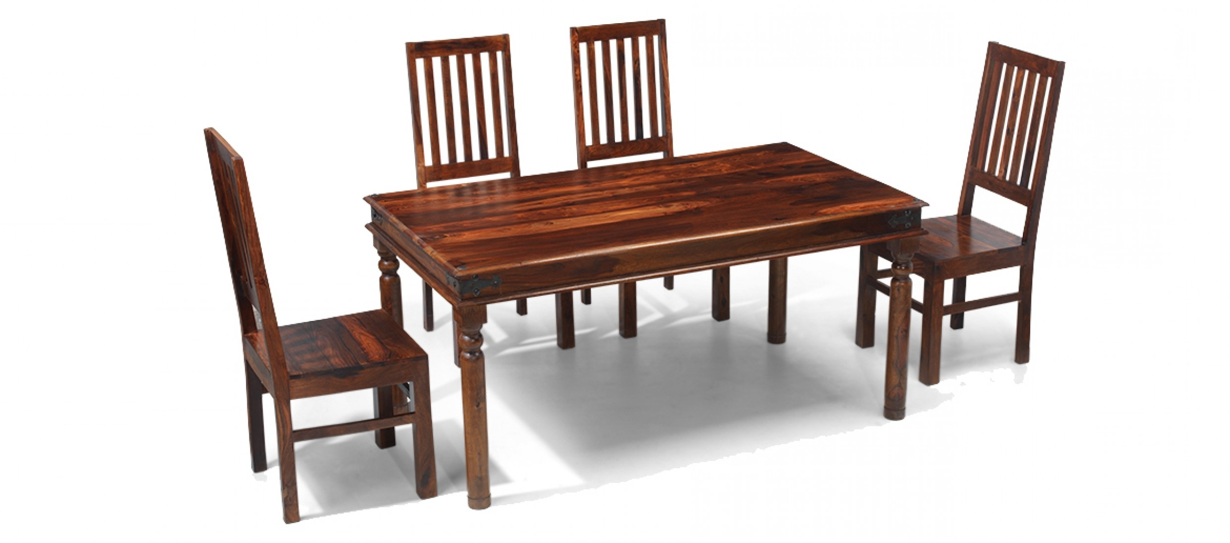 Quercus Living Inside Fashionable Sheesham Dining Tables And 4 Chairs (View 21 of 25)