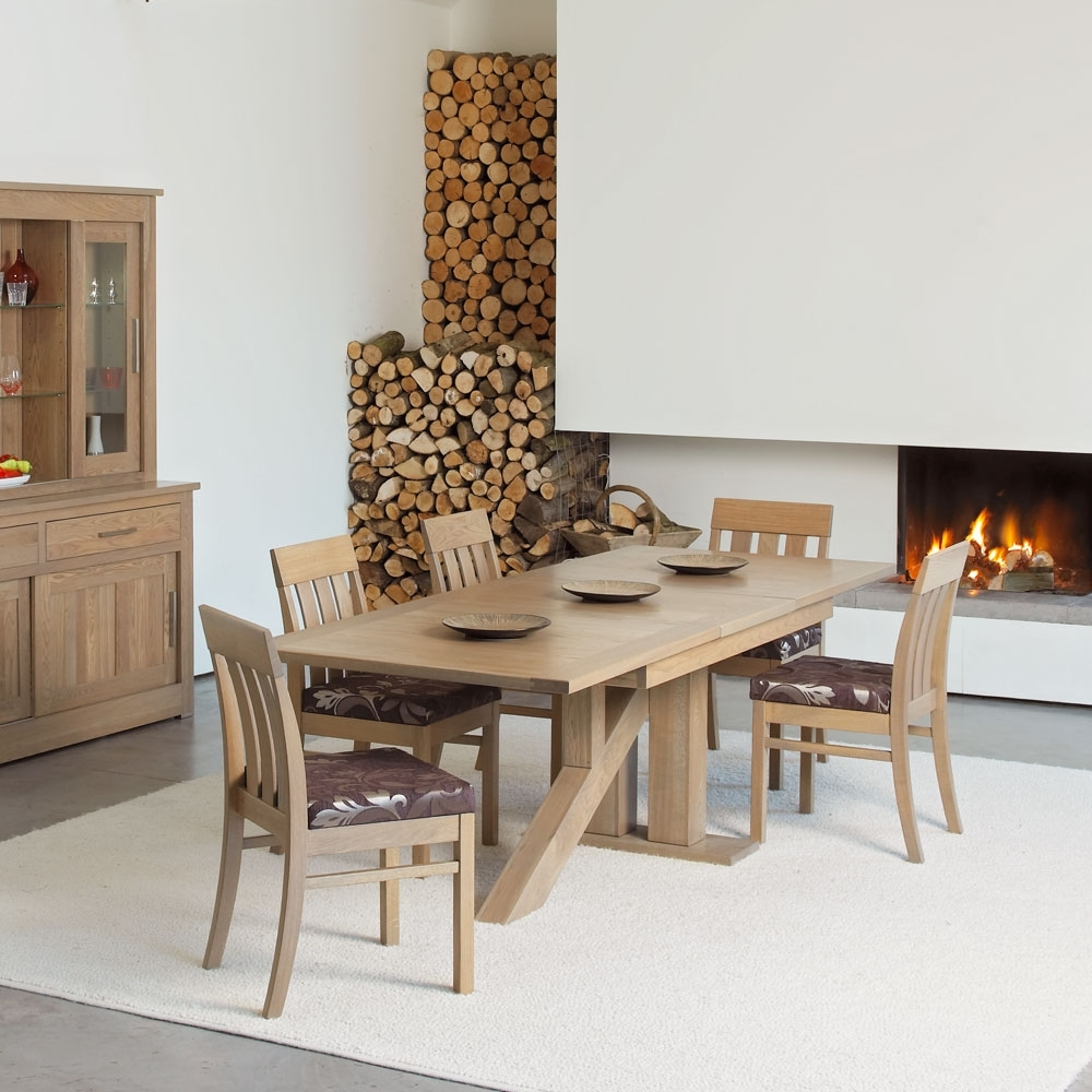 Quercus Solid Oak Extending Venice Dining Table - Con-Tempo Furniture within Favorite Extending Oak Dining Tables
