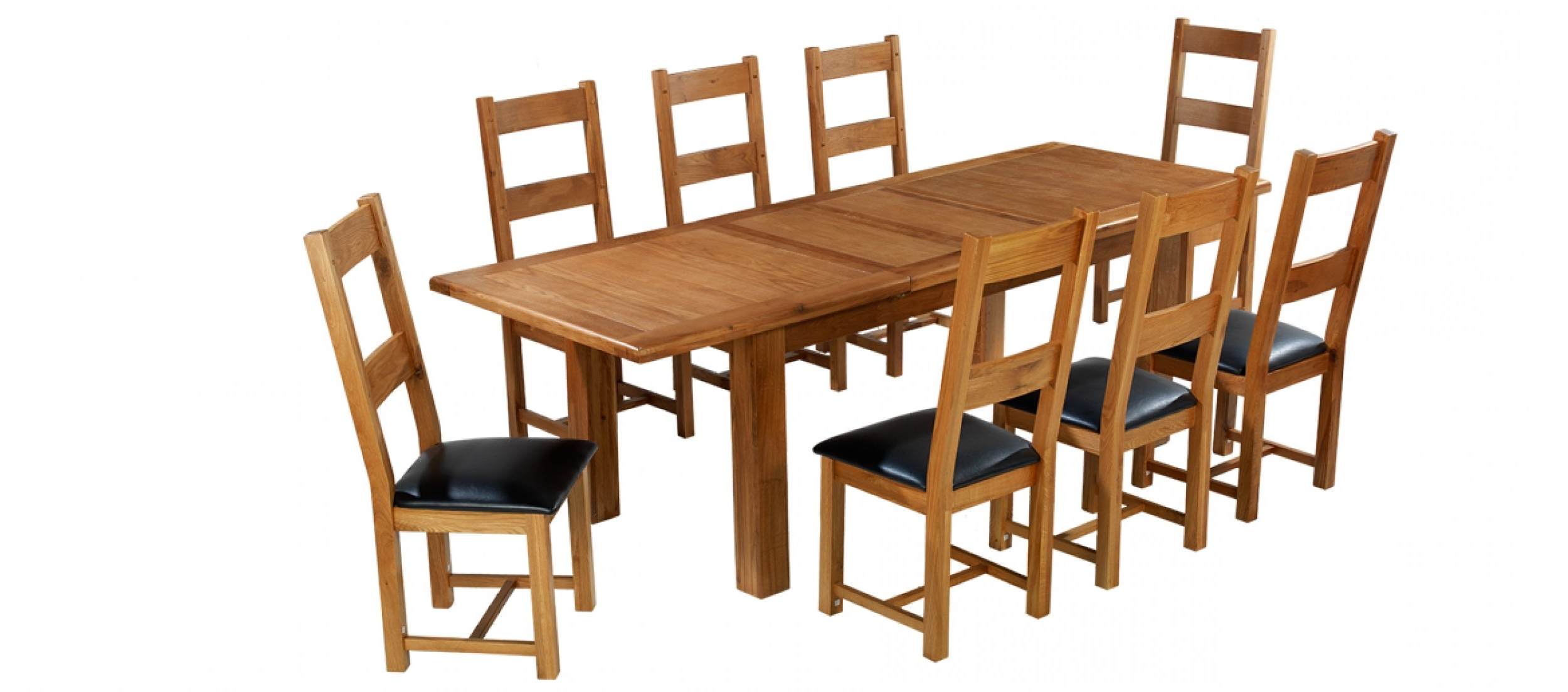 Quercus With Extending Dining Tables And 8 Chairs (Gallery 17 of 25)