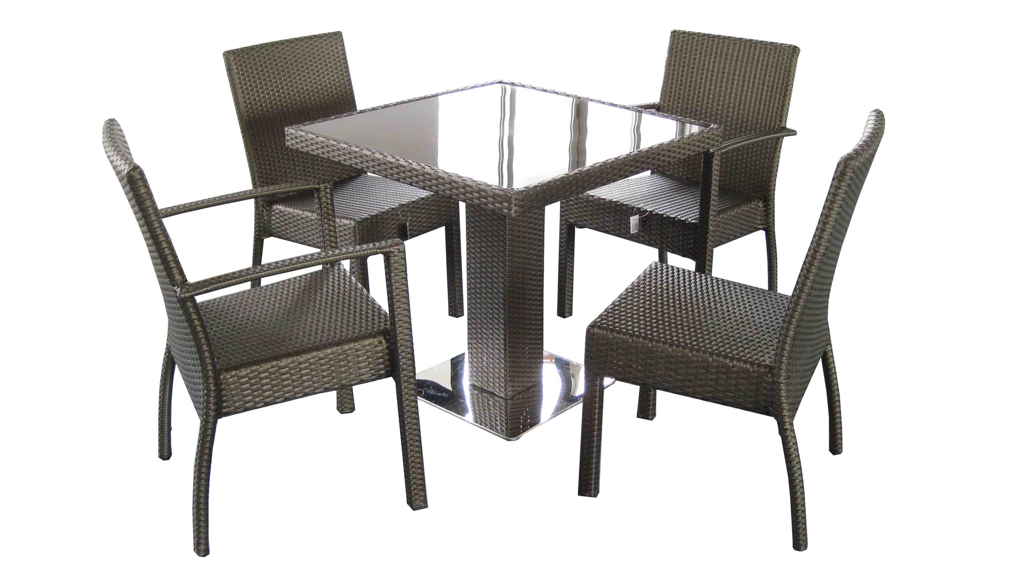 Rattan Dining Table Set,outdoor Furniture,outdoor Wicker, Cheap Within Well Known Rattan Dining Tables (View 9 of 25)