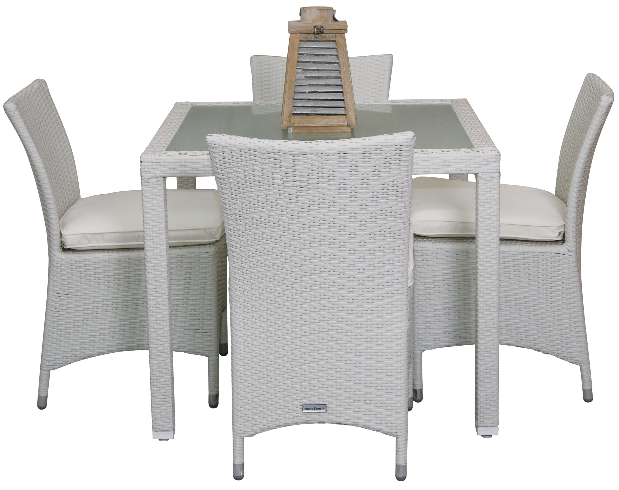 Rattan Dining Tables For Trendy Rattan Dining Table With Tempered Glass – Hometrends Home & Garden (View 11 of 25)