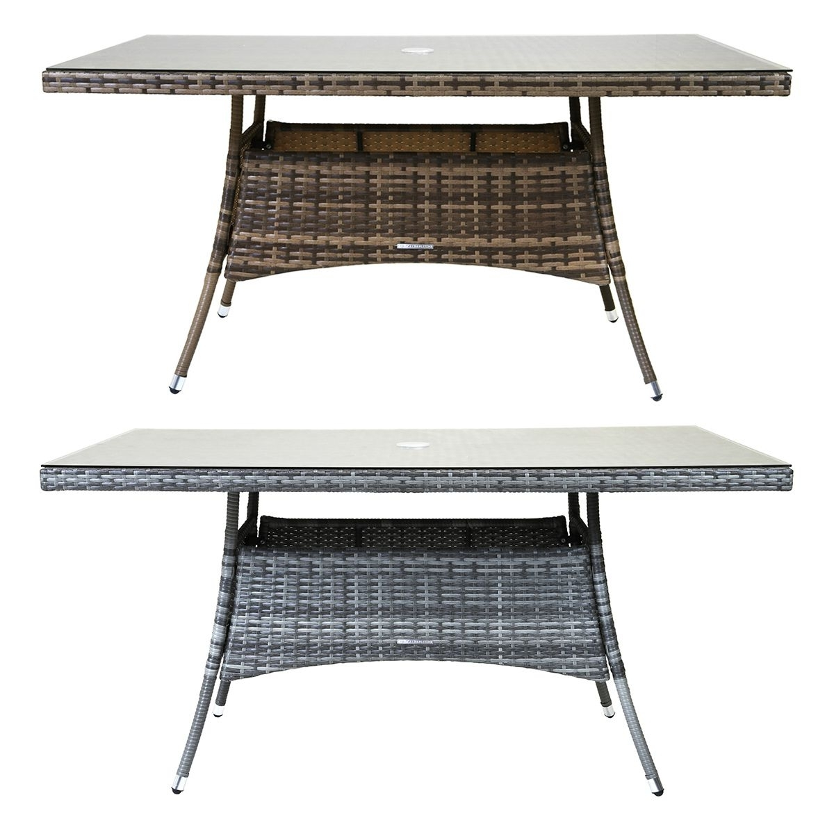 Rattan Dining Tables In Most Up To Date Charles Bentley Rectangular Rattan Dining Table Patio Garden (View 12 of 25)
