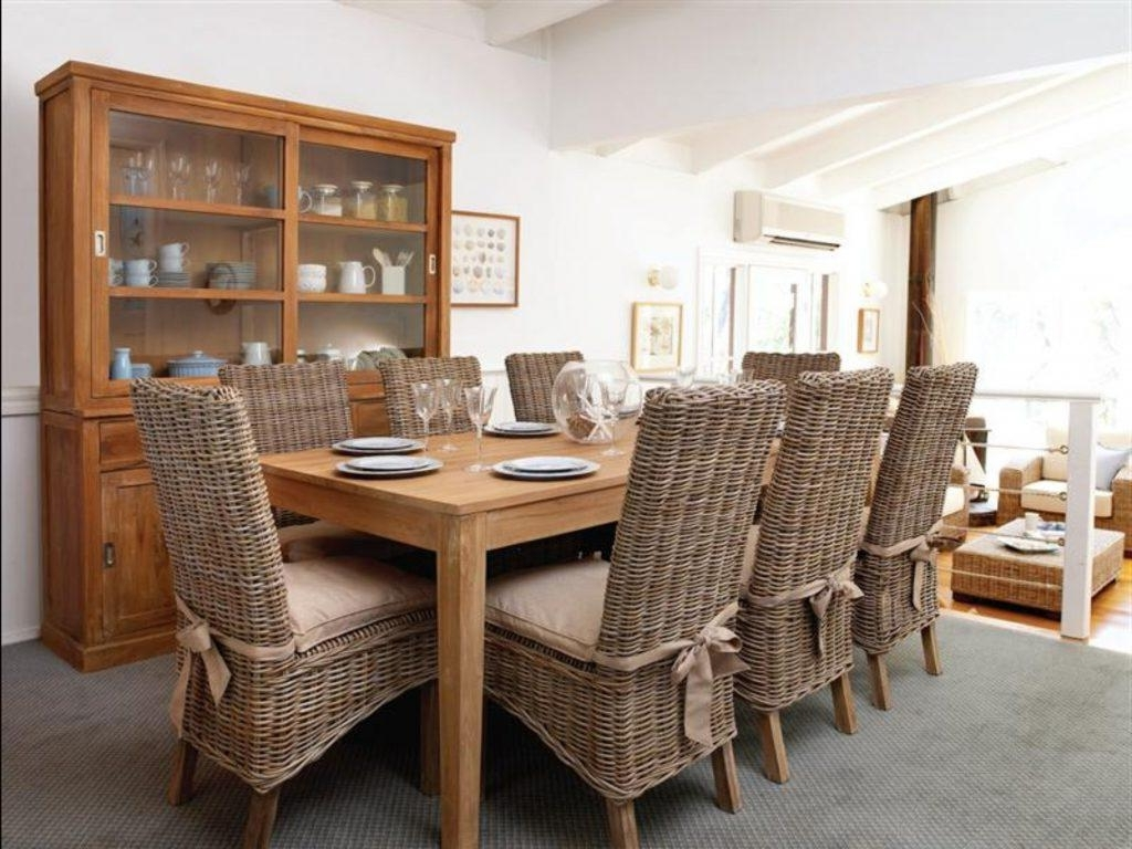 Rattan Dining Tables Pertaining To Most Current Dining Room Rattan Garden Dining Table And Chairs Rattan Kitchen (View 17 of 25)