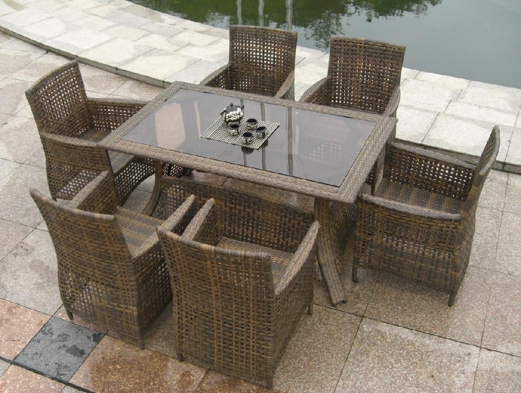 Rattan Dining Tables Within 2018 Admirable Rattan Dining Set Also Wicker Outdoor Furniture Setthe (View 19 of 25)