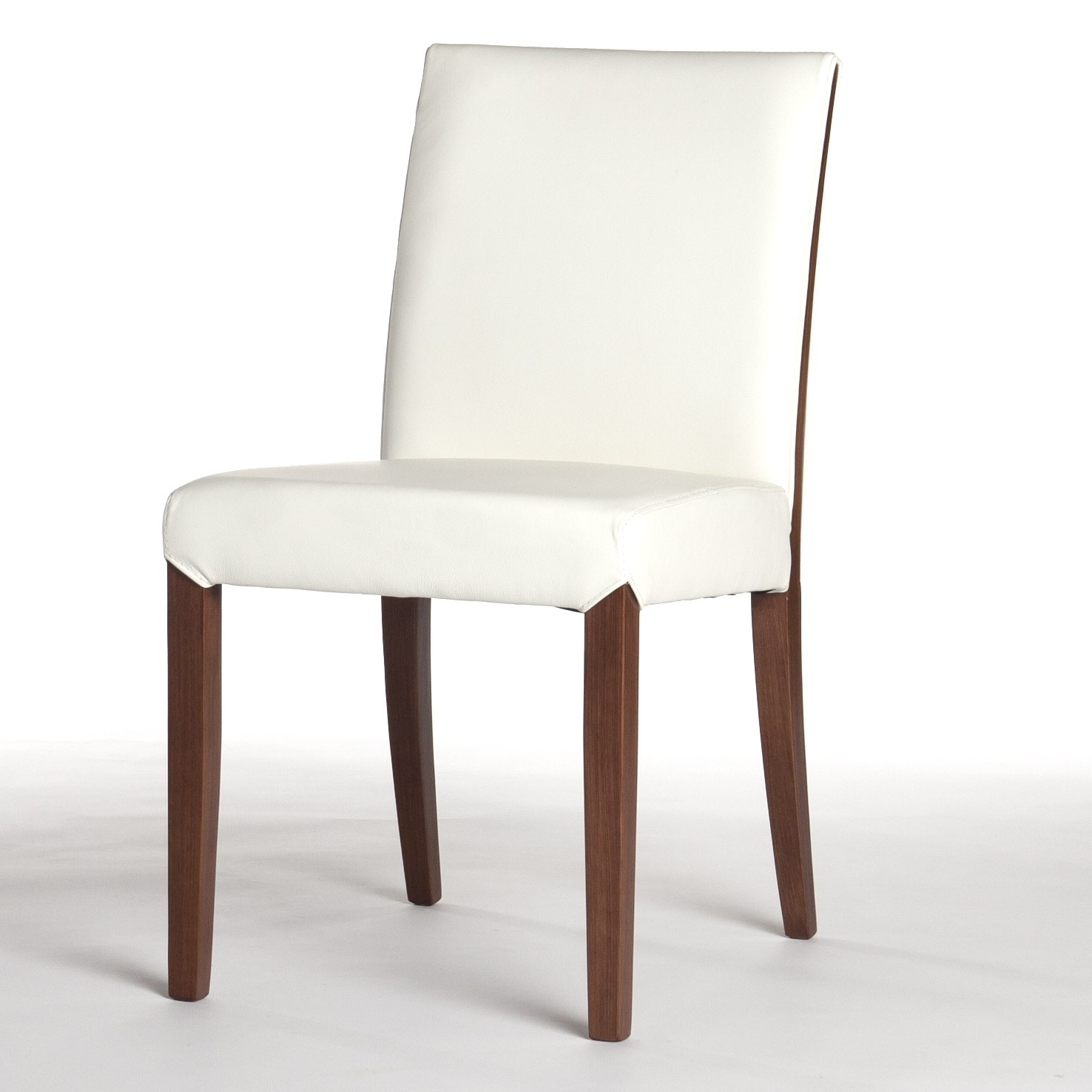 Real Leather Dining Chair In White Intended For Current Real Leather Dining Chairs (View 13 of 25)