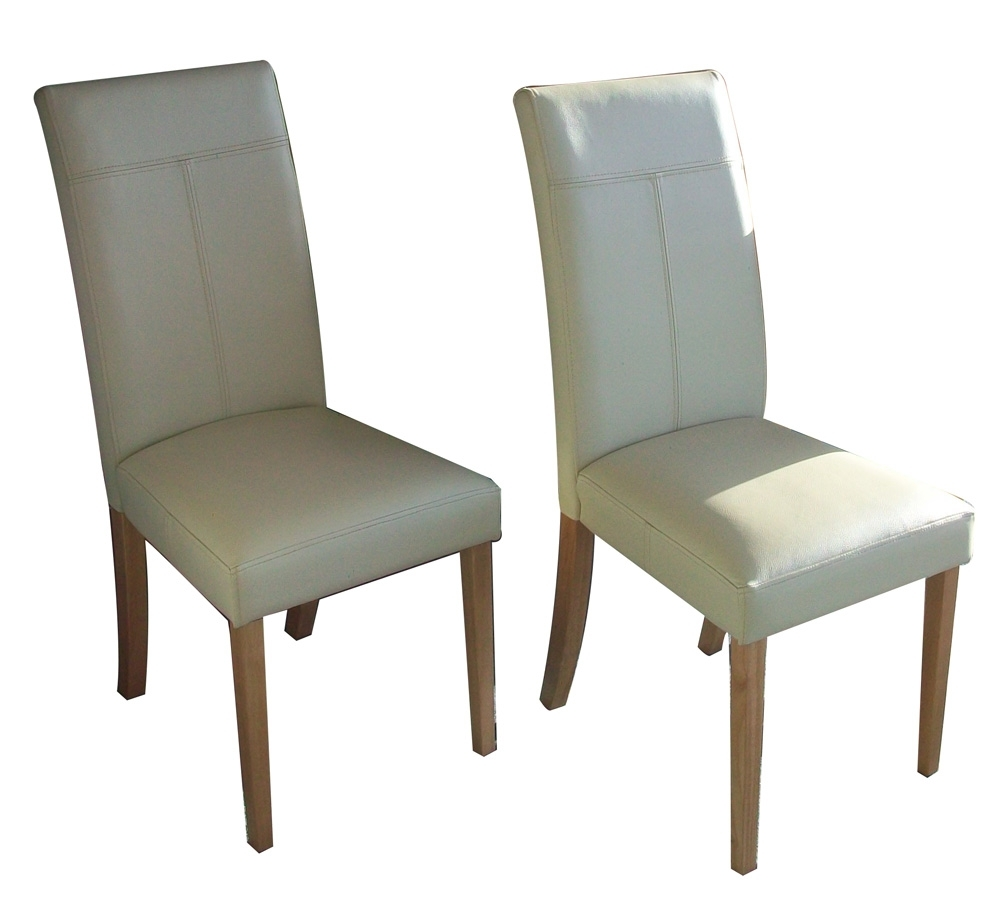 Real Leather Dining Chairs Throughout Newest Parsons Leather Dining Room Chairs Chair Pads Cushions Round Glass (View 8 of 25)