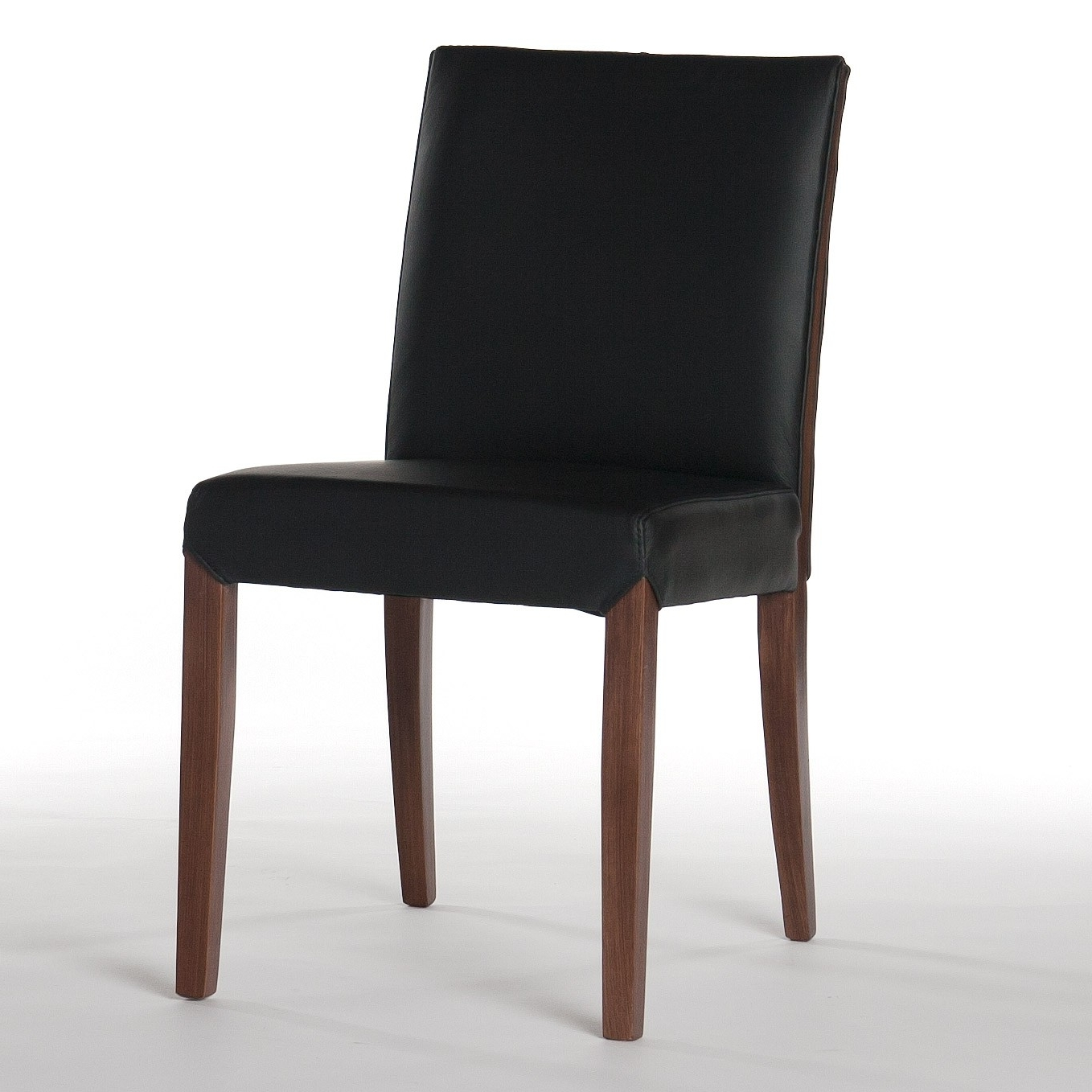 Real Leather Dining Chairs Within Most Popular Real Leather Dining Chair In Black Brookline Tufted Dining Chair (View 23 of 25)