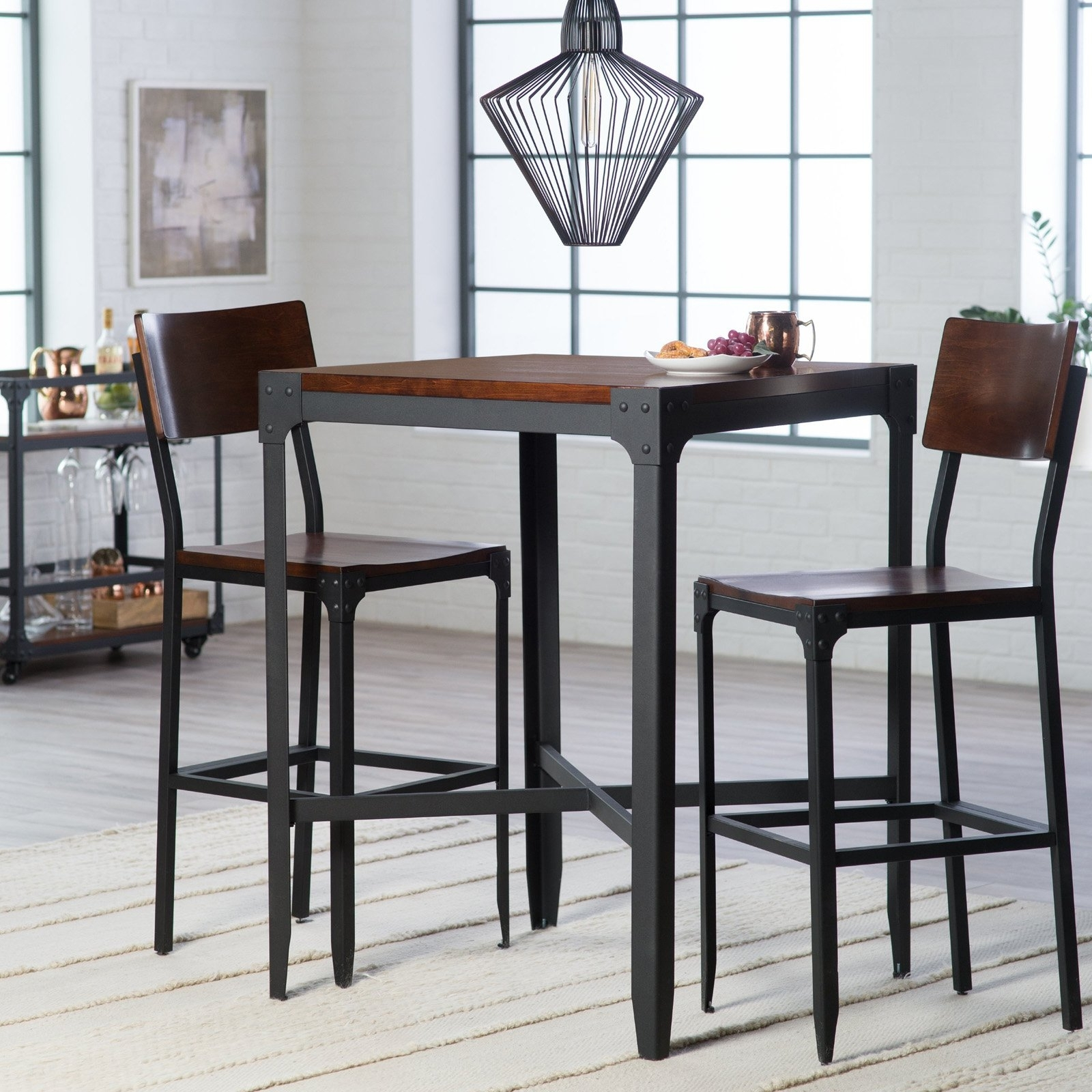 Recent 54 Bar Height Pub Table Sets, Small Dining Tables For 2 Our Top 6 intended for Palazzo 3 Piece Dining Table Sets