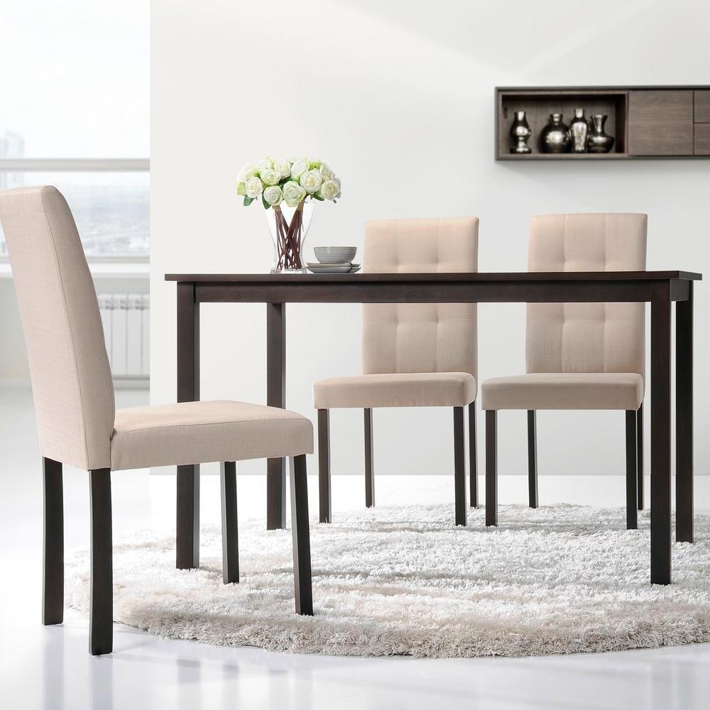 Recent Baxton Studio Andrew Dark Brown Wood Dining Table 28862 5255 Hd Within Dark Brown Wood Dining Tables (View 20 of 25)